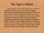 the tiger s habitat