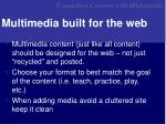 multimedia built for the web