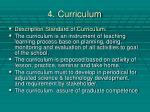 4 curriculum