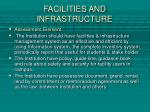 facilities and infrastructure