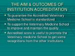 the aim outcomes of institution accreditation