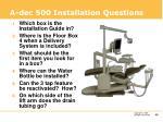 a dec 500 installation questions