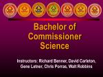 bachelor of commissioner science