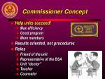 commissioner concept