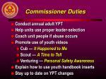 commissioner duties