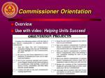 commissioner orientation
