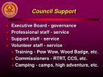 council support