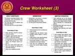 crew worksheet 3