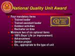 national quality unit award