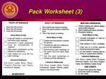 pack worksheet 3