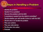steps in handling a problem