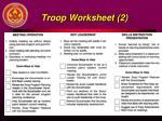troop worksheet 2