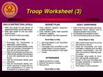 troop worksheet 3