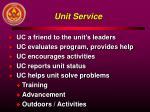 unit service