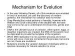 mechanism for evolution