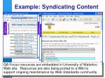 example syndicating content