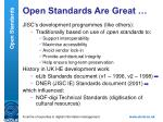 open standards are great