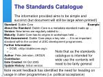 the standards catalogue