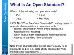 what is an open standard