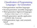 classification of programming languages by generation
