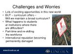 challenges and worries