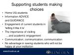 supporting students making choices