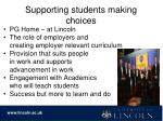 supporting students making choices1