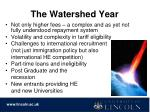 the watershed year