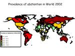 prevalence of abstention in world 2002