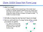 claim dsdv does not form loop