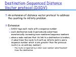 destination sequenced distance vector protocol dsdv