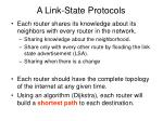 a link state protocols