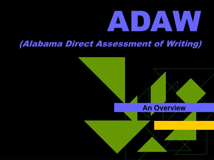 adaw alabama direct assessment of writing n.
