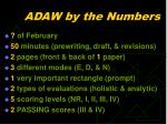 adaw by the numbers