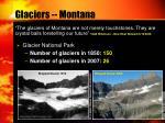 glaciers montana