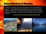 global warming in montana