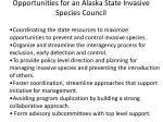 opportunities for an alaska state invasive species council