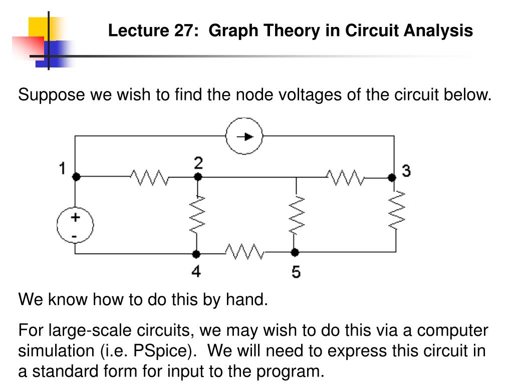Ppt Lecture 27 Graph Theory In Circuit Analysis Powerpoint Circuits Nodal Presentation Id3927178