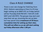 class a rule change
