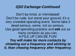 qso exchange continued