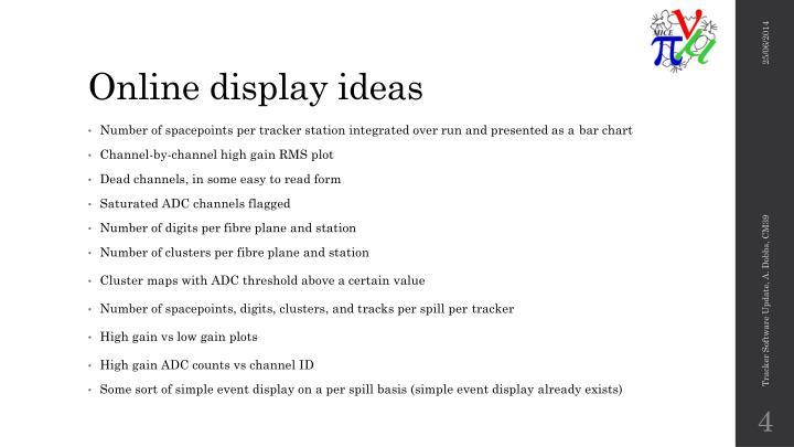 Online display ideas