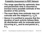 probability assessment in pert network1