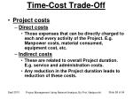 time cost trade off