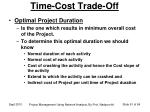 time cost trade off3