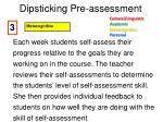 dipsticking pre assessment2