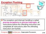 exception flushing