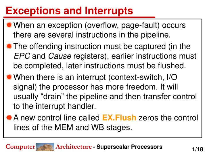 exceptions and interrupts n.