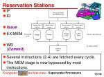 reservation stations