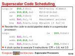 superscalar code scheduling