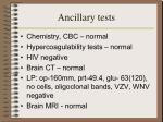 ancillary tests